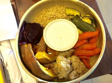 Beet, pumpkin, cauliflower, carrot, squash & quinoa
